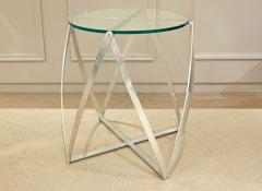 John Vesey John Vesey Sculptural Aluminum and Glass End Table 1970s - 219921