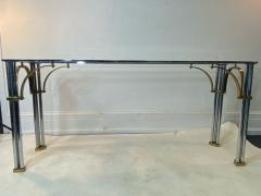 John Vesey MODERNIST1970S CHROME AND BRASS CONSOLE IN THE MANNER OF JOHN VESEY - 1756756