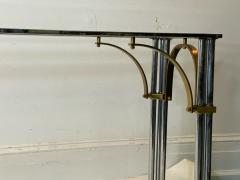 John Vesey MODERNIST1970S CHROME AND BRASS CONSOLE IN THE MANNER OF JOHN VESEY - 1756757
