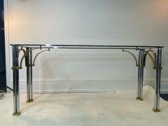 John Vesey MODERNIST1970S CHROME AND BRASS CONSOLE IN THE MANNER OF JOHN VESEY - 1756759