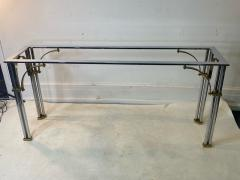 John Vesey MODERNIST1970S CHROME AND BRASS CONSOLE IN THE MANNER OF JOHN VESEY - 1756760