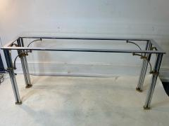 John Vesey MODERNIST1970S CHROME AND BRASS CONSOLE IN THE MANNER OF JOHN VESEY - 1756761