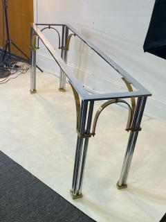 John Vesey MODERNIST1970S CHROME AND BRASS CONSOLE IN THE MANNER OF JOHN VESEY - 1756762