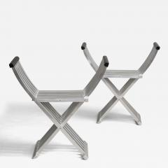 John Vesey Pair of Curule Benches by John Vesey - 209296