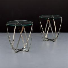 John Vesey Pair of John Vesey Metal and Glass Tables - 1840472
