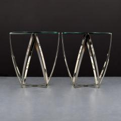 John Vesey Pair of John Vesey Metal and Glass Tables - 1840473