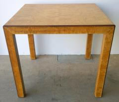 John Widdicomb Mid Century Modern Signed John Widdicomb Burl Wood Veneer Game Dining Table - 975769