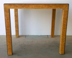 John Widdicomb Mid Century Modern Signed John Widdicomb Burl Wood Veneer Game Dining Table - 975770