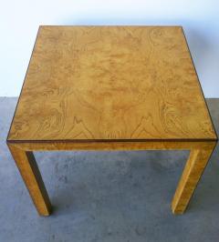 John Widdicomb Mid Century Modern Signed John Widdicomb Burl Wood Veneer Game Dining Table - 975771