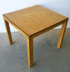 John Widdicomb Mid Century Modern Signed John Widdicomb Burl Wood Veneer Game Dining Table - 975772