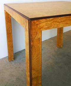 John Widdicomb Mid Century Modern Signed John Widdicomb Burl Wood Veneer Game Dining Table - 975773