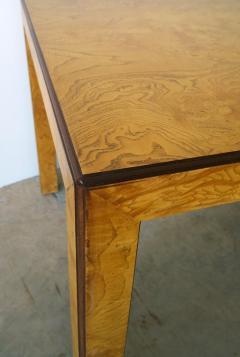 John Widdicomb Mid Century Modern Signed John Widdicomb Burl Wood Veneer Game Dining Table - 975775