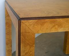 John Widdicomb Mid Century Modern Signed John Widdicomb Burl Wood Veneer Game Dining Table - 975776