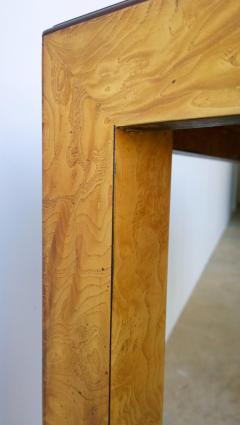 John Widdicomb Mid Century Modern Signed John Widdicomb Burl Wood Veneer Game Dining Table - 975778