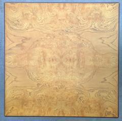 John Widdicomb Mid Century Modern Signed John Widdicomb Burl Wood Veneer Game Dining Table - 975779