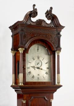 Philadelphia Carved Mahogany Tall Case Clock circa 1770 - 10683