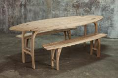 Jonathan Field Ebony Grained Ash Dining Benches - 1991085