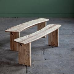 Jonathan Field Ebony Grained Ash Dining Benches - 1991088