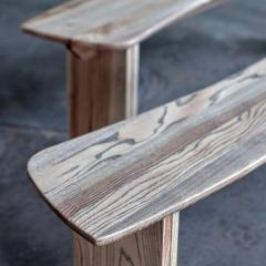 Jonathan Field Ebony Grained Ash Dining Benches - 1991095