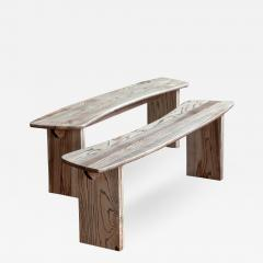 Jonathan Field Ebony Grained Ash Dining Benches - 1994333