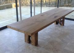 Jonathan Field English oak table for Clare - 1991027