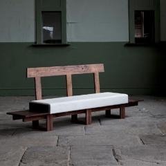 Jonathan Field Low Bench of Solid English and American Walnut - 1991053