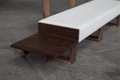 Jonathan Field Low Bench of Solid English and American Walnut - 1991063