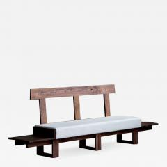 Jonathan Field Low Bench of Solid English and American Walnut - 1994330