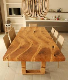 Jonathan Field Table in solid salvaged English oak for C J - 1991002