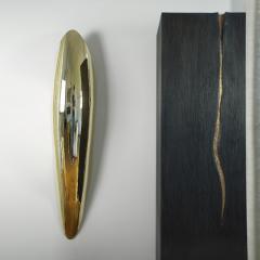 Jonathan Souli FANG Lighting wall sculpture in hammered brass - 2051263