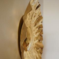 Jonathan Souli LOEIL DU SOLEIL Sculptural brass mirror - 1852665