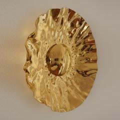 Jonathan Souli LOEIL DU SOLEIL Sculptural brass mirror - 1852666