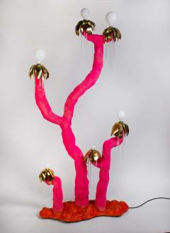 Jonathan Trayte Jonathan Trayte Floor Lamp Pink Hot Solar Buzzer Number 2 Custom Contemporary - 1601537