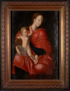 Joos van Cleve 16th C Biblical Manner of Joos van Cleve Madonna with Child Oil on Panel - 1996207