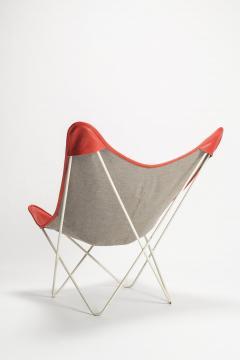 Jorge Ferrari Hardoy Butterfly Chair Ferrari Hardoy Leather Cotton - 1782879
