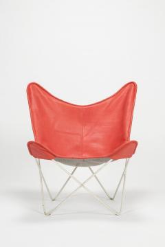Jorge Ferrari Hardoy Butterfly Chair Ferrari Hardoy Leather Cotton - 1782884