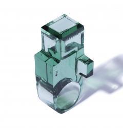 Jorge Y zpik RING GLASS 1 sculptural jewelry - 919496
