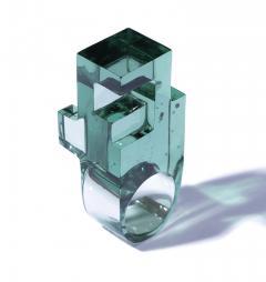 Jorge Y zpik RING GLASS 1 sculptural jewelry - 919498