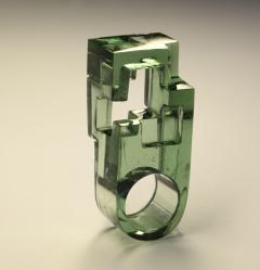 Jorge Y zpik RING GLASS 1 sculptural jewelry - 919500