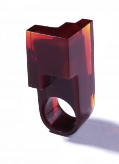 Jorge Y zpik RING GLASS 2 sculptural jewelry - 919517