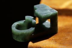 Jorge Y zpik RING JADE 2 sculptural jewelry - 934620