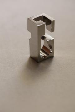 Jorge Y zpik RING STEEL 1 sculptural jewelry - 918638