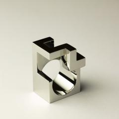 Jorge Y zpik RING STEEL 2 sculptural jewelry - 919179