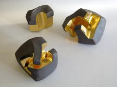 Jorge Y zpik UNTITLED CERAMIC AND GOLD sculpture 1 2 3 set  - 1400908