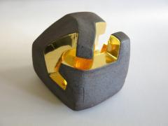 Jorge Y zpik UNTITLED CERAMIC AND GOLD sculpture 1 2 3 set  - 1400912