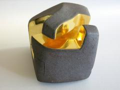 Jorge Y zpik UNTITLED CERAMIC AND GOLD sculpture 1 2 3 set  - 1400914