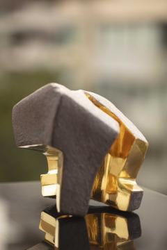 Jorge Y zpik UNTITLED CERAMIC AND GOLD sculpture 1 2 3 set  - 1400915