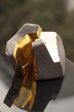 Jorge Y zpik UNTITLED CERAMIC AND GOLD sculpture 1 2 3 set  - 1400916