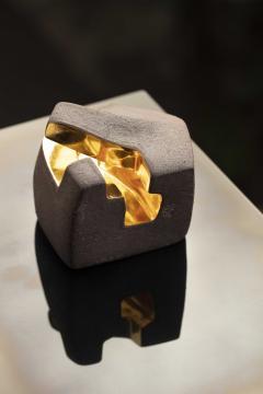 Jorge Y zpik UNTITLED CERAMIC AND GOLD sculpture 1 2 3 set  - 1400917