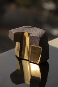 Jorge Y zpik UNTITLED CERAMIC AND GOLD sculpture 1 2 3 set  - 1400918